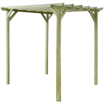 Wooden Garden Structure Anti Rot Pergola Treated Wood Arbour Patio Balcony Deck
