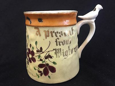 Rare Antique German Porcelain Whistle Mug Cup