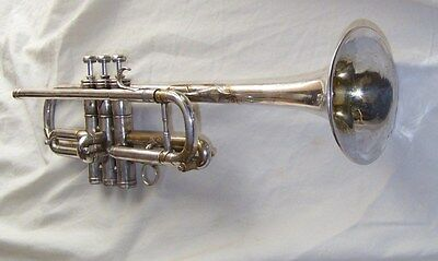 """Antoine COURTOIS Silver Plated """"C""""  TRUMPET, Made in France -- PLAYS GREAT!"""