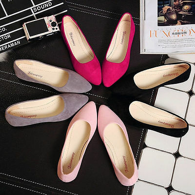 New-Fashion-Single-Shoes-Womens-Boat-Shoes-Casual-Ballet-Slip-On-Flats-Loafers
