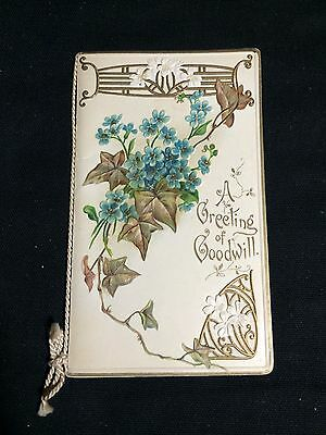 Antique Christmas Greeting Card Booklet-Misch & Co, England Printed in Prussia