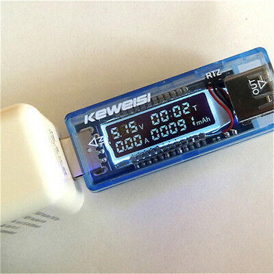 USA! New Keweisi USB Charger Doctor Mobile Power Detector Tester
