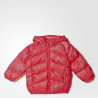 adidas baby girls pink padded coat. Infants coat. Infant jacket. 3-6M & 6-9M