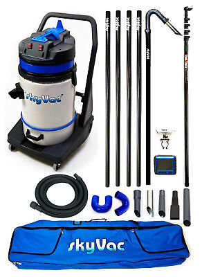 Gutter Vac Package: SkyVac Commercial / 4 Pole set with Rec Camera and 24ft Pole