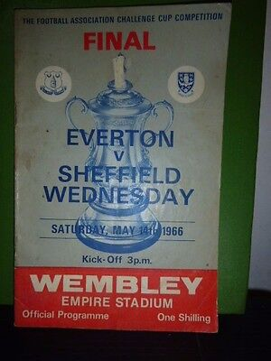 Everton V Sheff Wed  Fa Cup Final Programme 1966