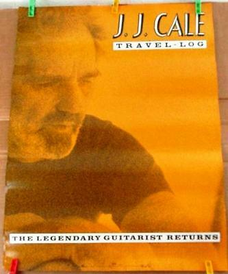 J.J. CALE Travel-Log Promotional Poster 1990 RCA Records ~ Never Displayed