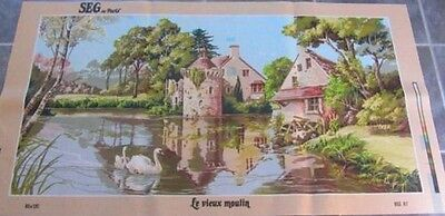 Canvas Tapestry Needlepoint Printed Embroidery Gobelin Seg Le Vieux Moulin New