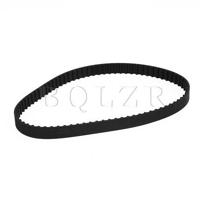 Black 160XL Rubber Imperial Timing Geared Belt XL Section Positive Drive