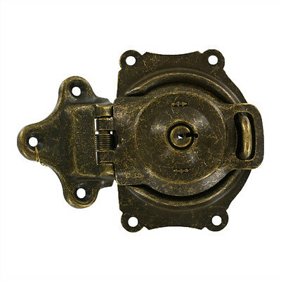 Replacement Trunk Lock in Antique Brass (w one key)