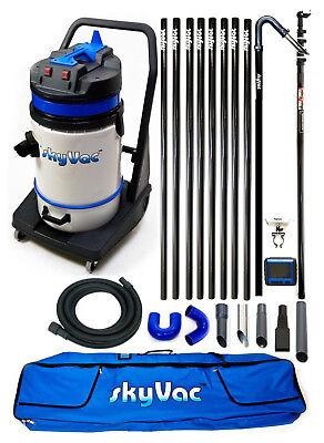 Gutter Vac Package: SkyVac Commercial / 8 Pole Set with Rec Camera and 24ft Pole