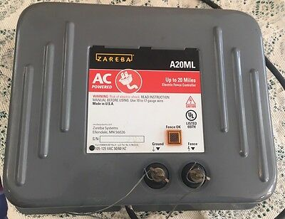 20 Mile Zareba Electric Fence Charger  A20ML Ac Powered Working