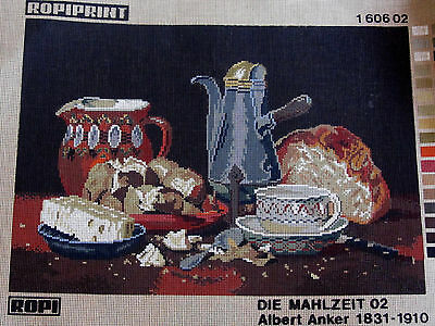 Canvas Tapestry Needlepoint Printed Embroidery Gobelin Ropiprint Die Mahlzeit