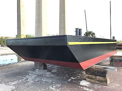New 25X12X4 Truckable Barge, Internal Spudwells, Marine Construction