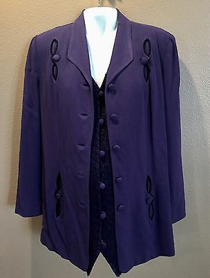 Pea In The Pod by Zelda Maternity Purple Blazer And Gorgeous Vest - Size M
