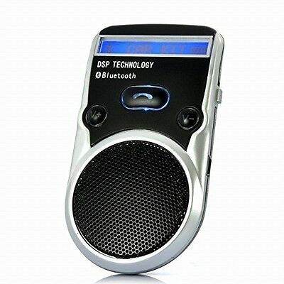 DSD TECH Black Solar Powered LCD Display Bluetooth Car Kit Handsfree Call And