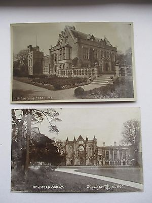 2 POSTCARDS OF NEWSTEAD ABBEY - RP's BY A.J.LOUGHTON , SOUTHWELL