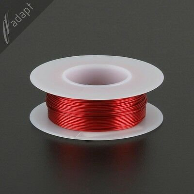 24 AWG Gauge Magnet Wire Red 100' 155C Solderable Enameled Copper Coil Winding