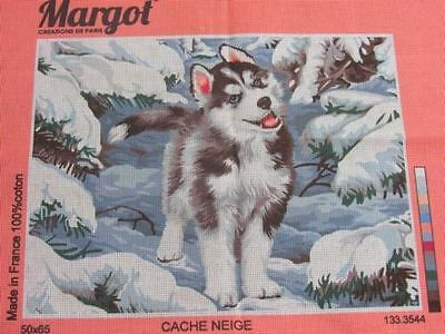 Canvas Tapestry Needlepoint Printed Embroidery Gobelin Margot Cache Neige New
