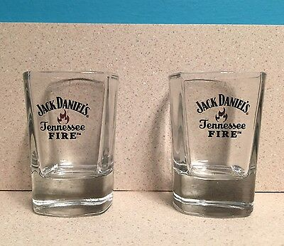 Set Of 2 Brand New Jack Daniels Tennessee Fire Shot Glasses *Free Shipping*
