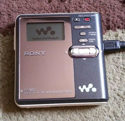 SONY MZ-RH910 Hi-MD Mini Disc Recorder TESTED! (Serial #5037423) with 3V Adapter