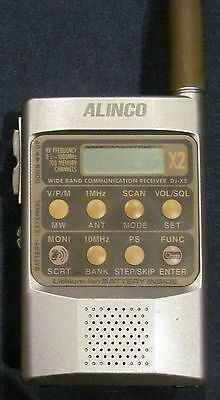 ALINCO DJ-X2 T/E  0.5 MHz~1000 MHz WIDE BAND COMMUNICATION RECEIVER