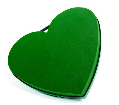 "Floral Foam Plastic Backed Solid Hearts In 2 Sizes 13"" 17""  Funeral Oasis Type"
