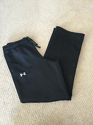 Boys Under Armour Loose Fit Sweat Athletic Pants Size Large Black