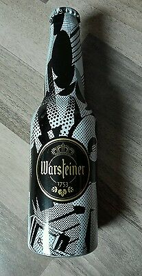 Warsteiner Bier Aluflasche Limitiert ART COLLECT Voll Full Beer Bottle 4/5