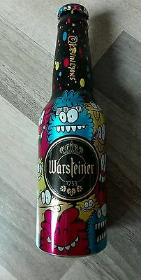 Warsteiner Bier Alu Flasche Limitiert ART COLLECTION Voll Full Beer Bottle 3/5