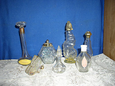 VINTAGE LOT of 7  AVON Womens Cologne Bath  BOTTLES Seahorse, butterfly  Others
