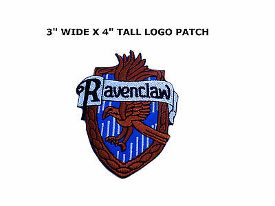 HARRY POTTER House of Ravenclaw Large Crest Logo New Embroidered Iron-On Patch