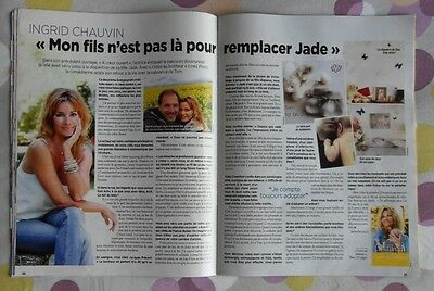 °☆☆ Coupures de presse / INGRID CHAUVIN ~ 2 pages - Article Poster Clipping ☆☆°
