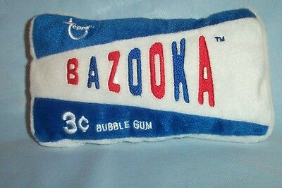 Good Stuff Original Bazooka 3 Cents Bubble Gum Topps Plush Pillow With Tag