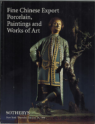 Sotheby's Fine Chinese Export Porcelain Paintings Works of Art 1996 furniture +