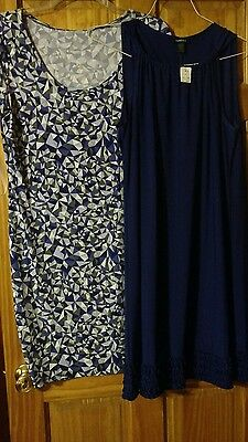 Nwt lot of 2 women's dresses 14, large