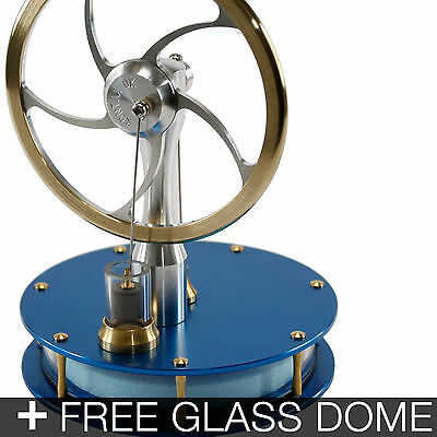KONTAX Blue Ultra Low Temp Stirling Engine ASSEMBLED + FREE Glass Dome