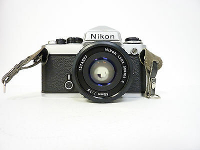 Nikon FE 35mm SLR Film Camera with 50 mm lens Kit