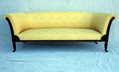LARGE STYLISH VICTORIAN ANTIQUE CHESTERFIELD SOFA SETTEE c1890