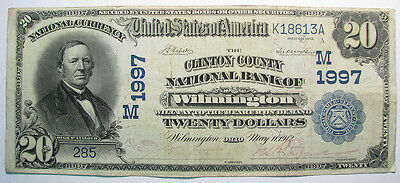 1902 CLINTON COUNTY BANK AND TRUST OF WILMINGTON, OHIO CHARTER 1997 $20 Dt Bk F