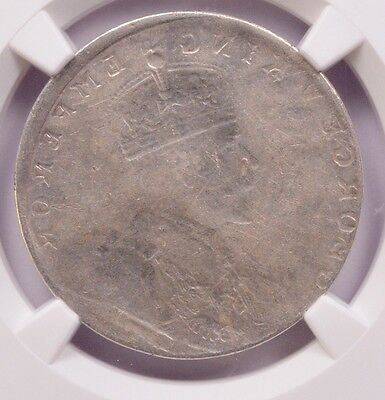 India 1 Rupee  (1911-1936) Mirror Brockage Obverse AU