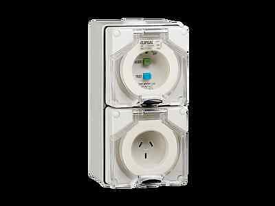 Clipsal  56C310RCGY RCD Protected Switched Socket Outlet, 250V, 10A