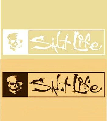 New Salt Life All Day Skull & Signature UV Rated Weatherproof Decal Sticker