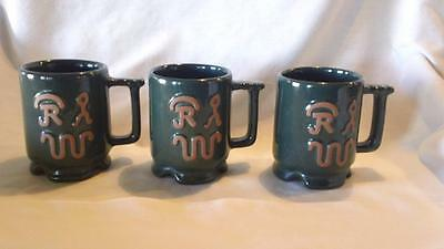 FRANKOMA USA C1 RANCH STYLE COFFEE CUP IN FOREST GREEN w/WESTERN CATTLE BRANDS