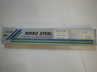 316L Stainless Steel 2.0mm x 300mm x 1kg Arc Welding Electrodes / Rods / Stick