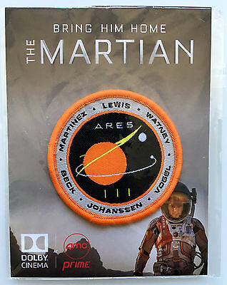 The Martian movie patch EXCLUSIVE promo! w/ Deadpool promo on back
