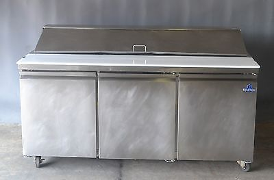 Used Coldtech S3BRR-18S, Two Dr Refrigerated Sandwich Prep Table, Free Shipping!