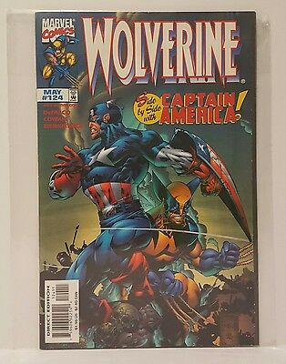 Marvel Comics #124 Wolverine VF/NM 'Side by Side with Captain America' 1998