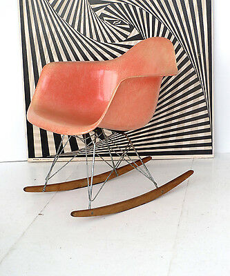 EAMES ROPE EDGE ROCKING ARM CHAIR RAR ZENITH before HERMAN MILLER +ORIGINAL BASE