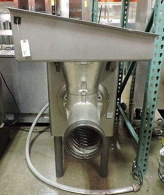 Used Hobart 4156 Stainless Steel 15HP Commercial Meat Grinder
