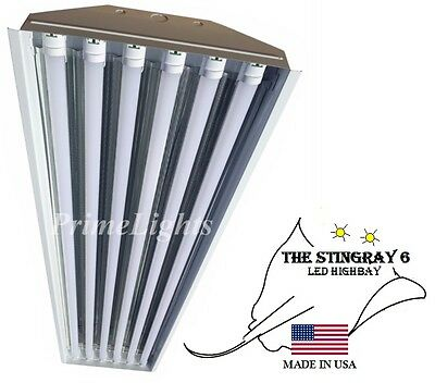 STINGRAY 6 XL T8 LED 132W High Bay Warehouse, Shop, Commercial Light Fixture NEW